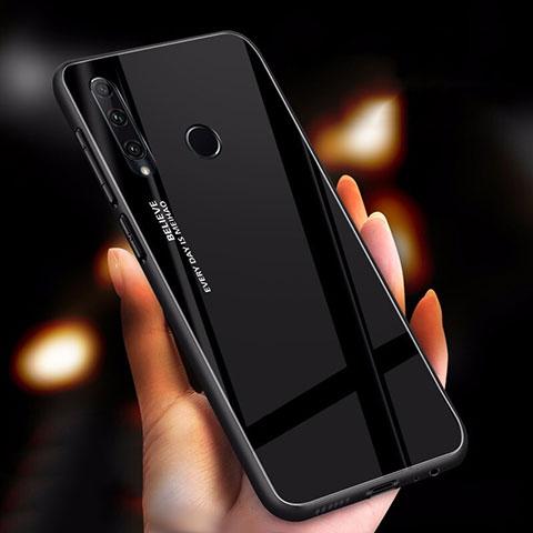 Custodia Silicone Specchio Laterale Sfumato Arcobaleno Cover per Huawei Honor 20 Lite Nero