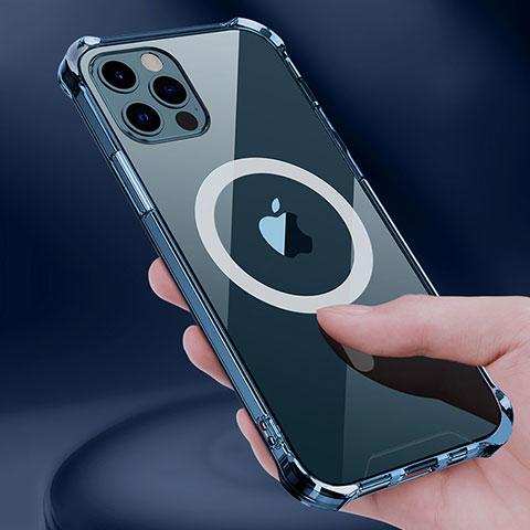 Custodia Silicone Trasparente Ultra Slim Morbida con Mag-Safe Magnetic per Apple iPhone 12 Pro Max Chiaro