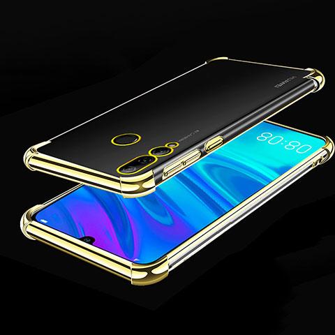 Custodia Silicone Trasparente Ultra Sottile Cover Morbida H01 per Huawei Honor 20 Lite Oro