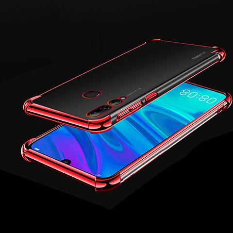 Custodia Silicone Trasparente Ultra Sottile Cover Morbida H01 per Huawei Honor 20 Lite Rosso