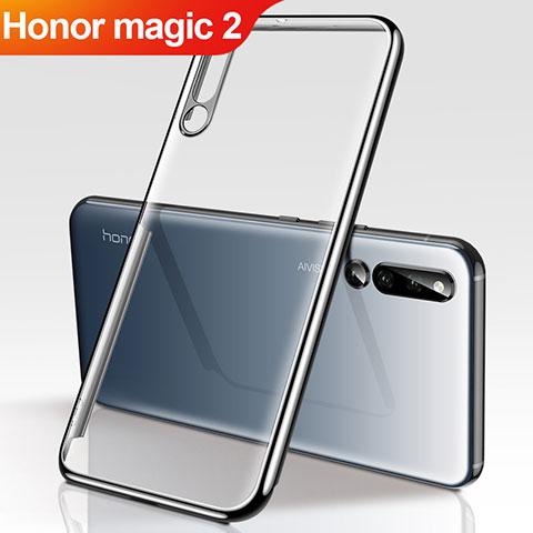 Custodia Silicone Trasparente Ultra Sottile Cover Morbida H01 per Huawei Honor Magic 2 Nero