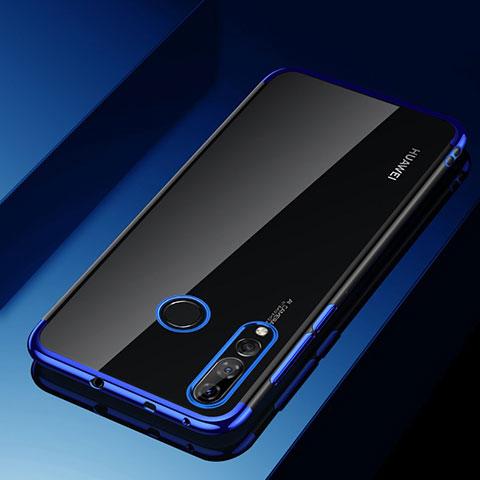 Custodia Silicone Trasparente Ultra Sottile Cover Morbida H03 per Huawei Honor 20 Lite Blu