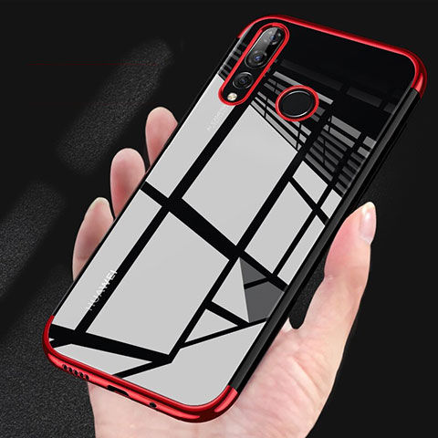 Custodia Silicone Trasparente Ultra Sottile Cover Morbida H03 per Huawei Honor 20 Lite Rosso
