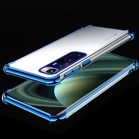 Custodia Silicone Trasparente Ultra Sottile Cover Morbida H04 per Xiaomi Mi 10 Ultra Blu