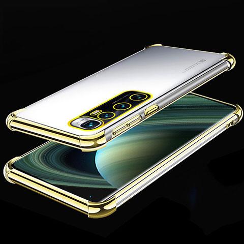 Custodia Silicone Trasparente Ultra Sottile Cover Morbida H04 per Xiaomi Mi 10 Ultra Oro