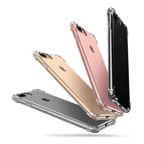 Custodia Silicone Trasparente Ultra Sottile Morbida A10 per Apple iPhone 8 Plus Chiaro