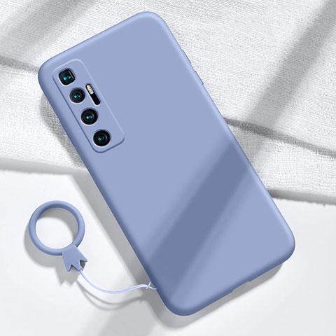 Custodia Silicone Ultra Sottile Morbida 360 Gradi Cover per Xiaomi Mi 10 Ultra Grigio Lavanda