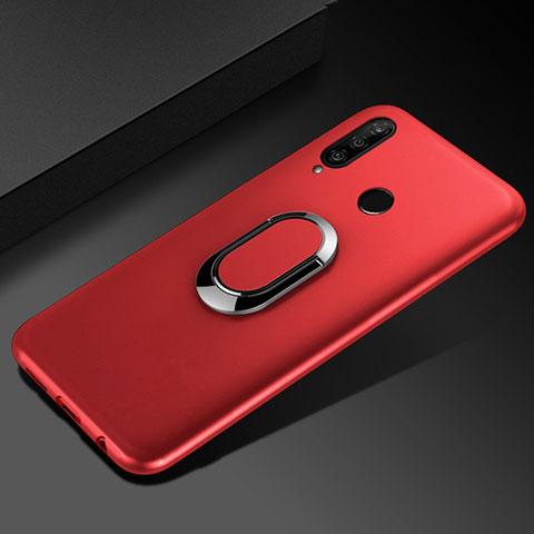 Custodia Silicone Ultra Sottile Morbida Cover con Magnetico Anello Supporto per Huawei Honor 20 Lite Rosso