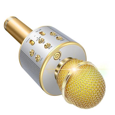 Microfono Mini Stereo Karaoke 3.5mm M06 Oro