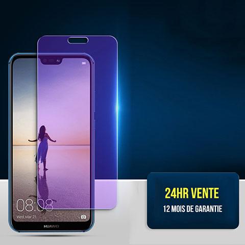 Pellicola in Vetro Temperato Protettiva Anti Blu-Ray Proteggi Schermo Film per Huawei P20 Lite Chiaro