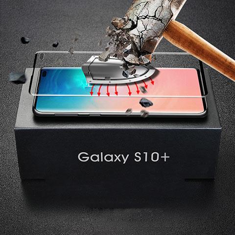 Pellicola in Vetro Temperato Protettiva Integrale Proteggi Schermo Film per Samsung Galaxy S10 Plus Nero