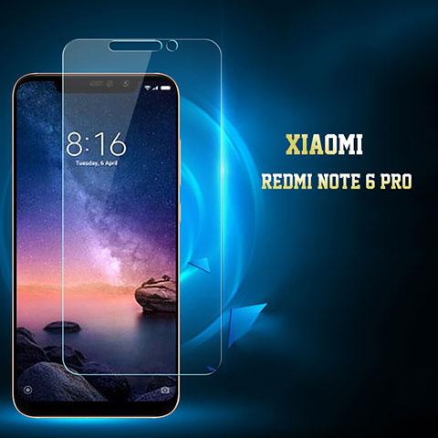 Pellicola in Vetro Temperato Protettiva Proteggi Schermo Film per Xiaomi Redmi Note 6 Pro Chiaro