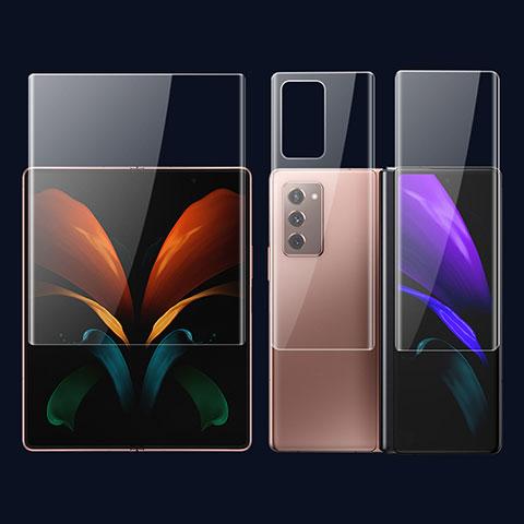 Pellicola Protettiva Fronte e Retro Proteggi Schermo Film F01 per Samsung Galaxy Z Fold2 5G Chiaro