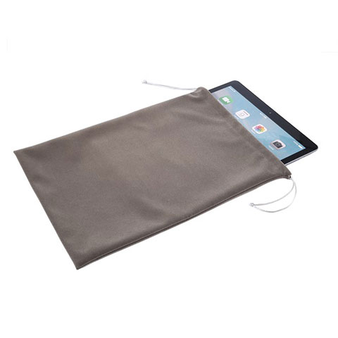 Sacchetto in Velluto Cover Marsupio Tasca per Apple iPad Pro 12.9 Grigio