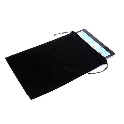 Sacchetto in Velluto Custodia Marsupio Tasca per Apple iPad Pro 12.9 (2017) Nero
