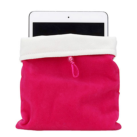 Sacchetto in Velluto Custodia Tasca Marsupio per Apple iPad 2 Rosa Caldo