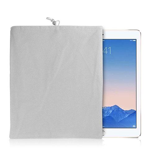 Sacchetto in Velluto Custodia Tasca Marsupio per Apple iPad Mini 3 Bianco