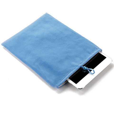 Sacchetto in Velluto Custodia Tasca Marsupio per Apple iPad Mini 4 Cielo Blu