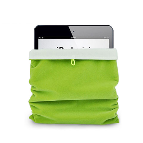 Sacchetto in Velluto Custodia Tasca Marsupio per Apple iPad Mini 4 Verde