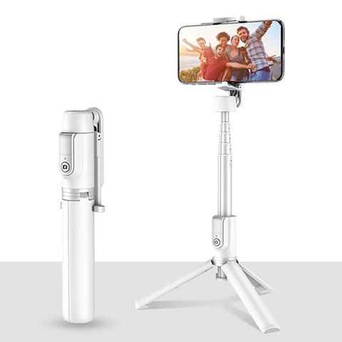Sostegnotile Bluetooth Selfie Stick Tripode Allungabile Bastone Selfie Universale T28 Bianco