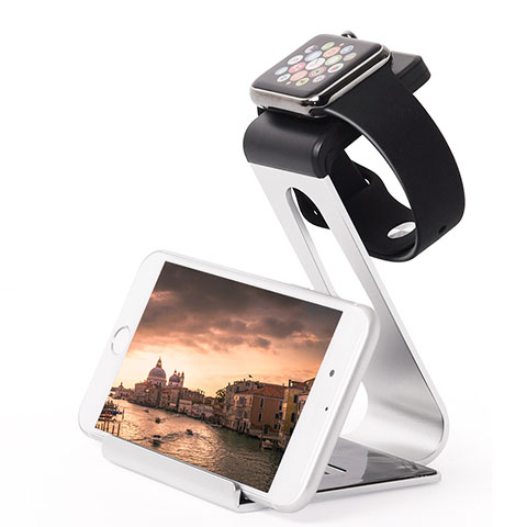 Supporto Di Ricarica Stand Docking Station C02 per Apple iWatch 3 38mm Argento