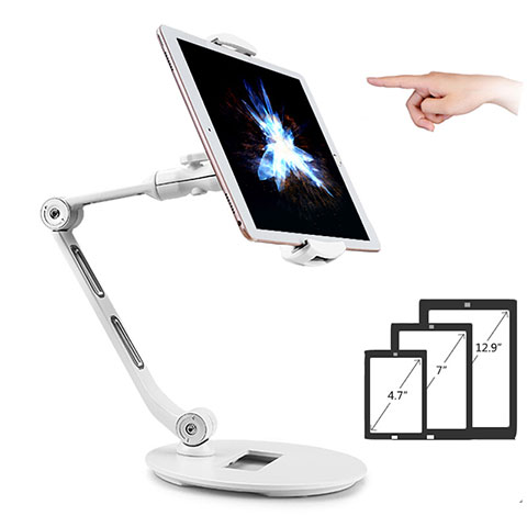 Supporto Tablet PC Flessibile Sostegno Tablet Universale H08 per Xiaomi Mi Pad Bianco
