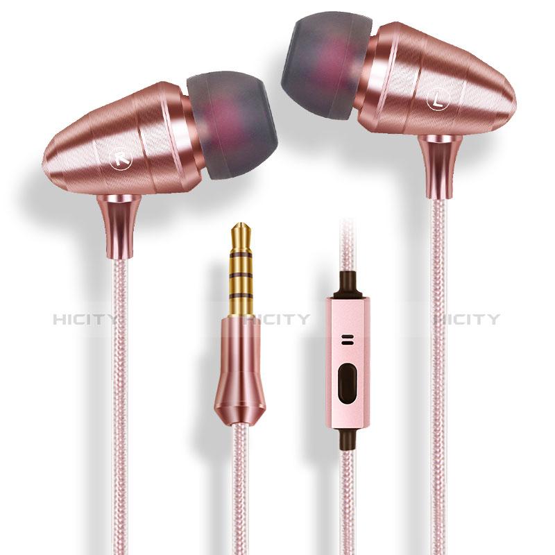 Auricolari Cuffie In Ear Stereo Universali Sport Corsa H35 Oro Rosa