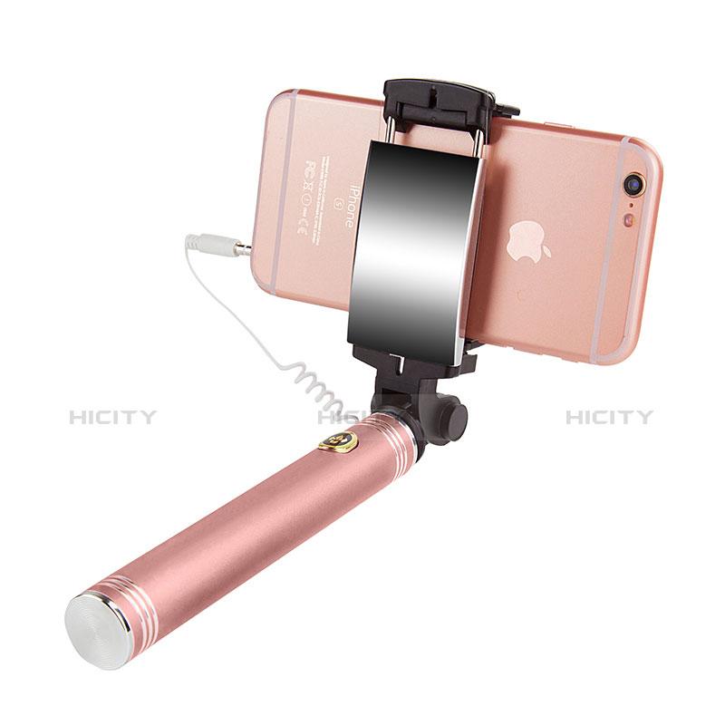 Bastoni Selfie Stick Asta Estensibile Cablato Universale S22 Oro Rosa