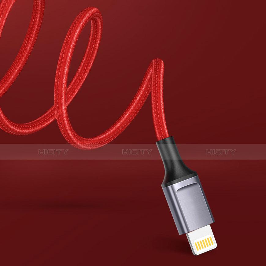 Cavo da USB a Cavetto Ricarica Carica C03 per Apple iPhone 11 Rosso