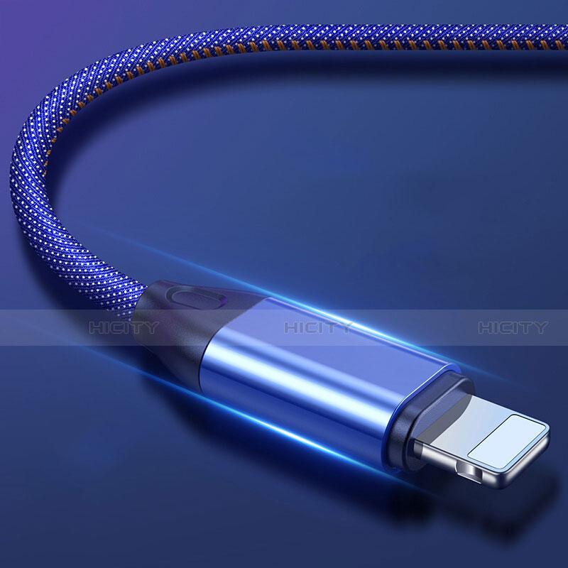Cavo da USB a Cavetto Ricarica Carica C04 per Apple iPhone 11 Blu