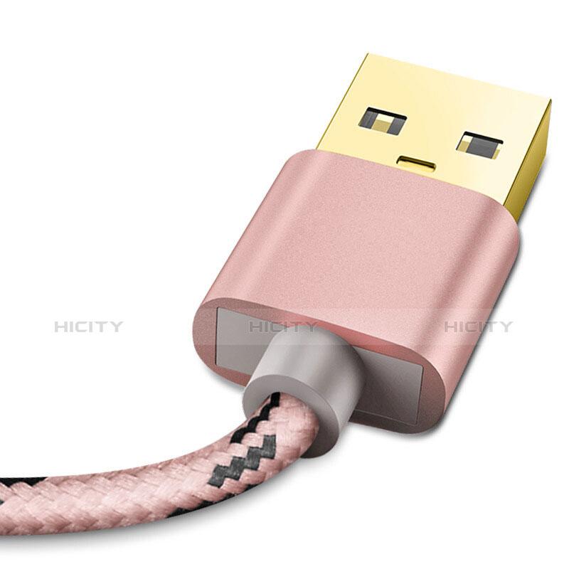 Cavo da USB a Cavetto Ricarica Carica L01 per Apple iPhone 11 Oro Rosa