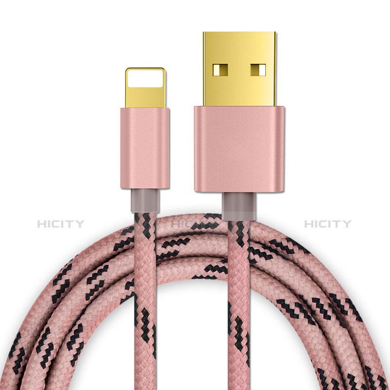 Cavo da USB a Cavetto Ricarica Carica L01 per Apple iPhone 11 Pro Oro Rosa