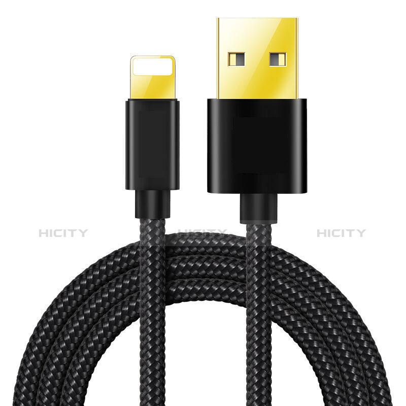 Cavo da USB a Cavetto Ricarica Carica L02 per Apple iPhone 11 Nero
