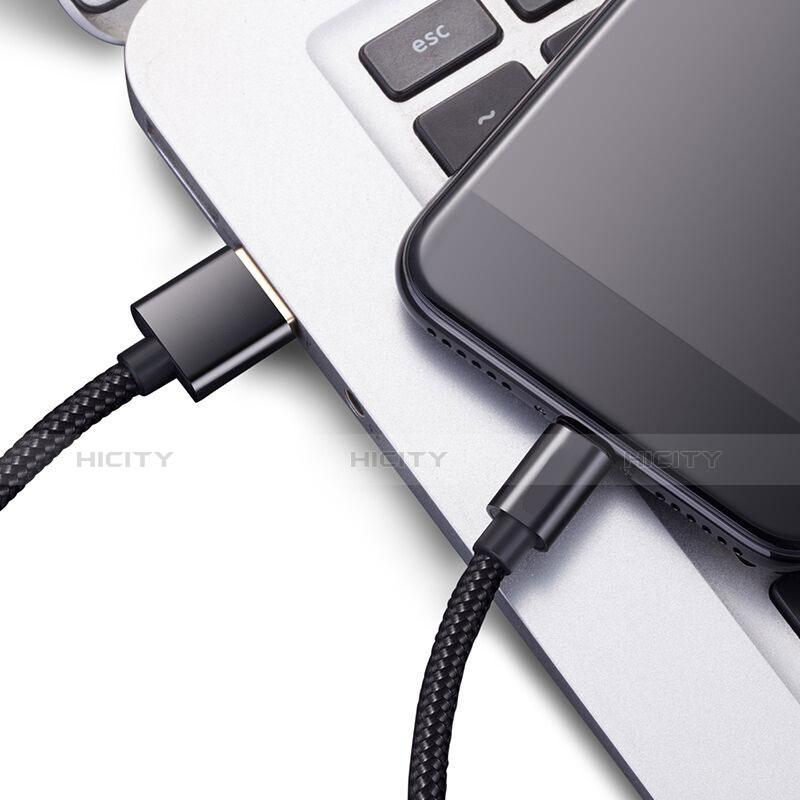 Cavo da USB a Cavetto Ricarica Carica L02 per Apple iPhone 11 Pro Nero