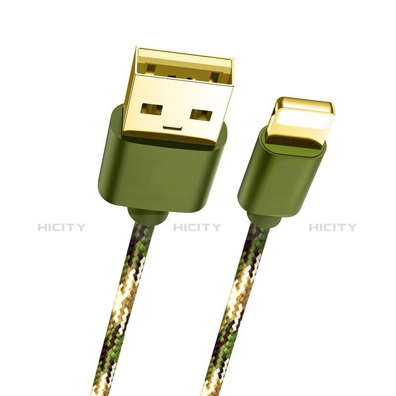 Cavo da USB a Cavetto Ricarica Carica L03 per Apple iPhone 11 Pro Verde