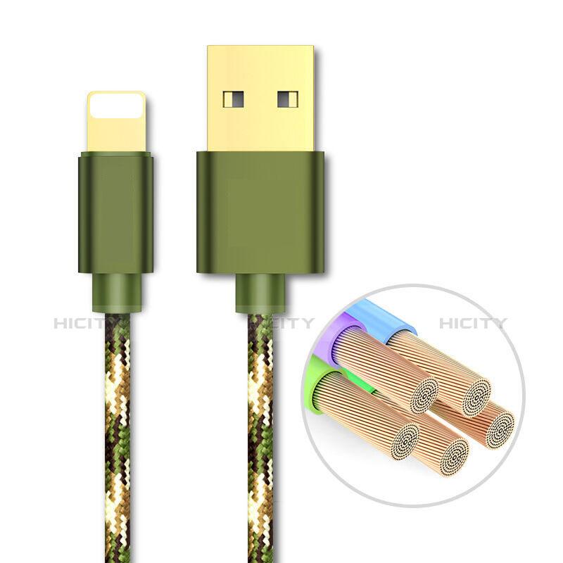 Cavo da USB a Cavetto Ricarica Carica L03 per Apple iPhone 11 Verde
