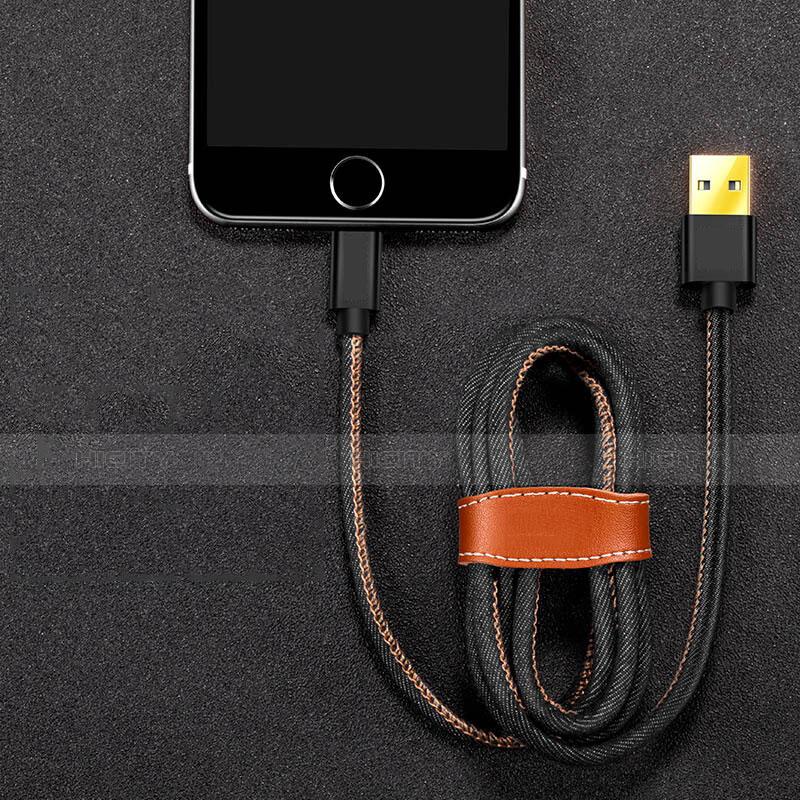 Cavo da USB a Cavetto Ricarica Carica L04 per Apple iPhone 11 Nero