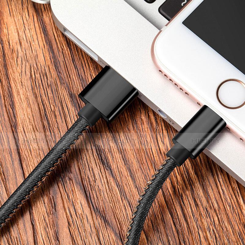 Cavo da USB a Cavetto Ricarica Carica L04 per Apple iPhone 11 Pro Nero