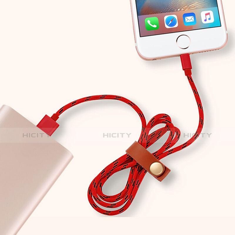 Cavo da USB a Cavetto Ricarica Carica L05 per Apple iPad New Air (2019) 10.5 Rosso