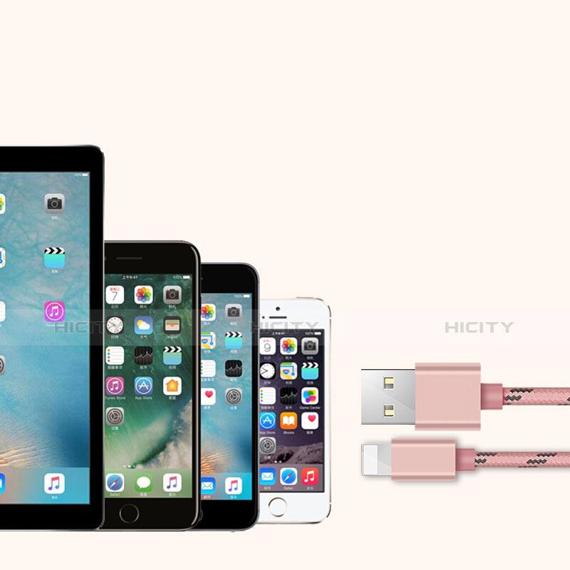 Cavo da USB a Cavetto Ricarica Carica L05 per Apple iPhone 11 Rosa