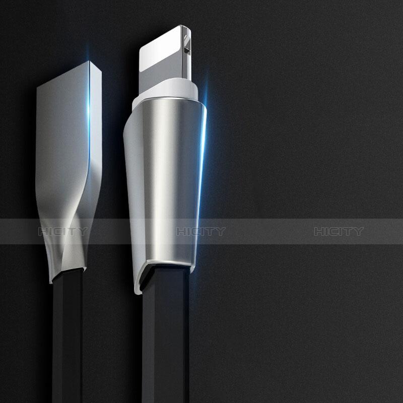 Cavo da USB a Cavetto Ricarica Carica L06 per Apple iPhone 11 Pro Nero