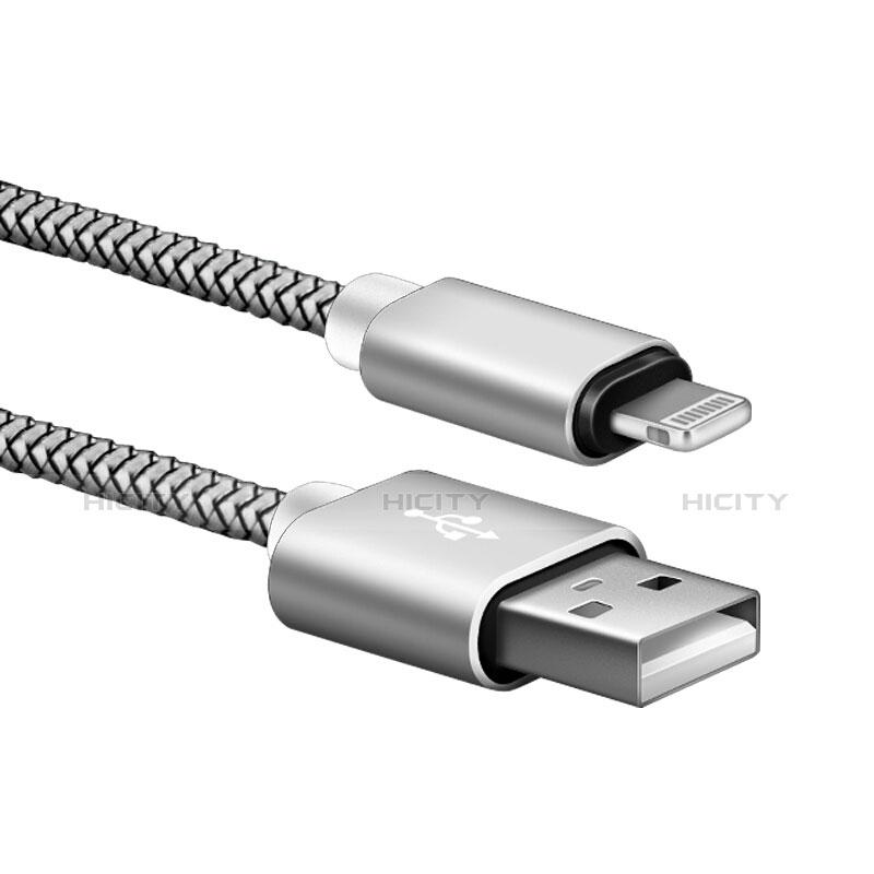 Cavo da USB a Cavetto Ricarica Carica L07 per Apple iPhone 11 Argento