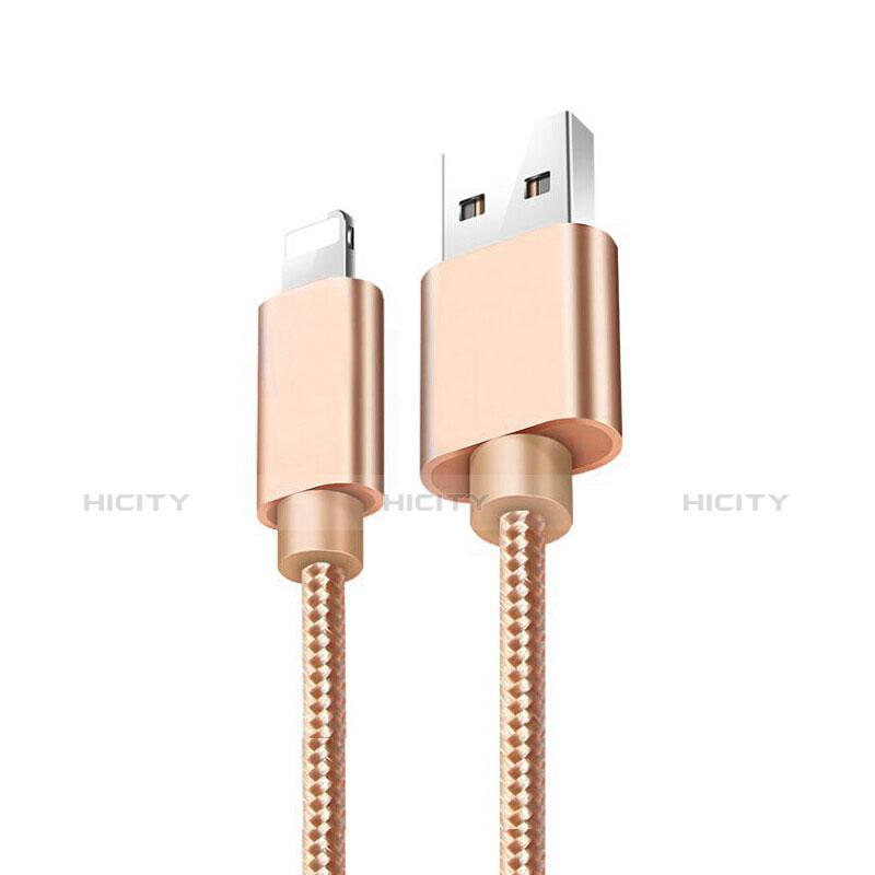 Cavo da USB a Cavetto Ricarica Carica L08 per Apple iPhone 11 Pro Oro