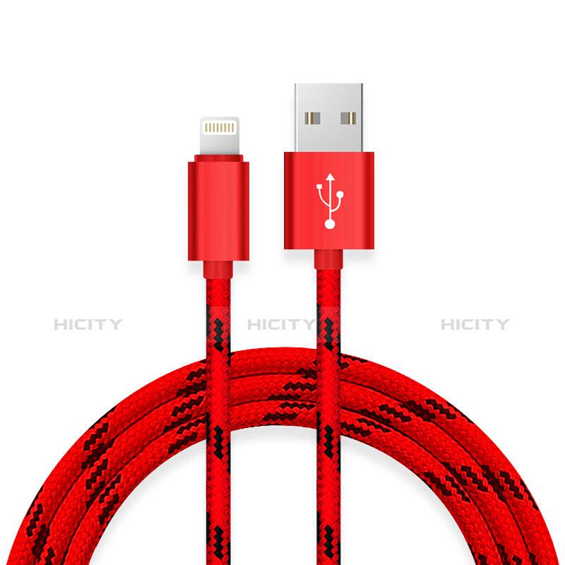 Cavo da USB a Cavetto Ricarica Carica L10 per Apple iPhone 11 Pro Rosso