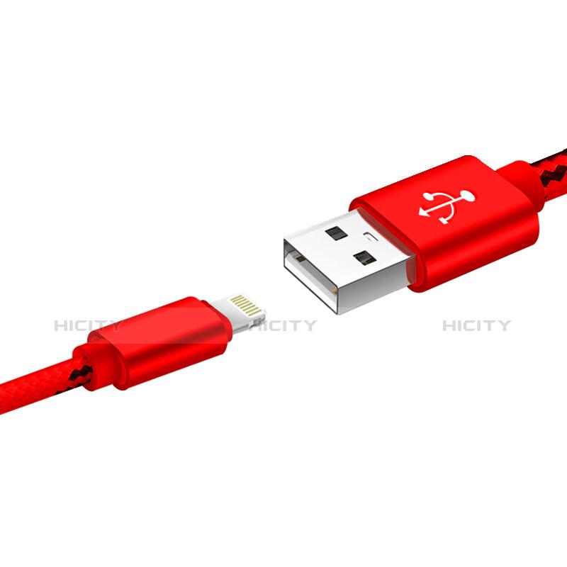 Cavo da USB a Cavetto Ricarica Carica L10 per Apple iPhone 11 Rosso