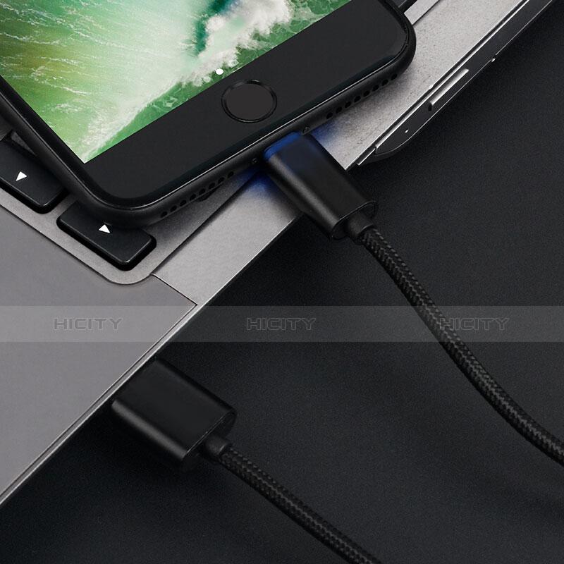 Cavo da USB a Cavetto Ricarica Carica L13 per Apple iPhone 11 Nero