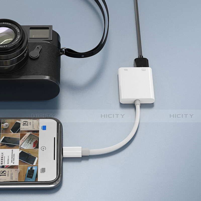 Cavo Lightning a USB OTG H01 per Apple iPhone 11 Bianco