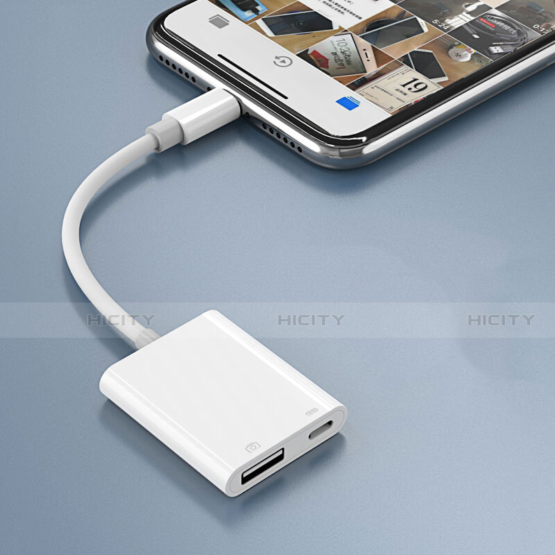 Cavo Lightning a USB OTG H01 per Apple iPhone 11 Pro Bianco