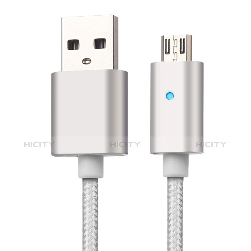 Cavo USB 2.0 Android Universale A08 Argento