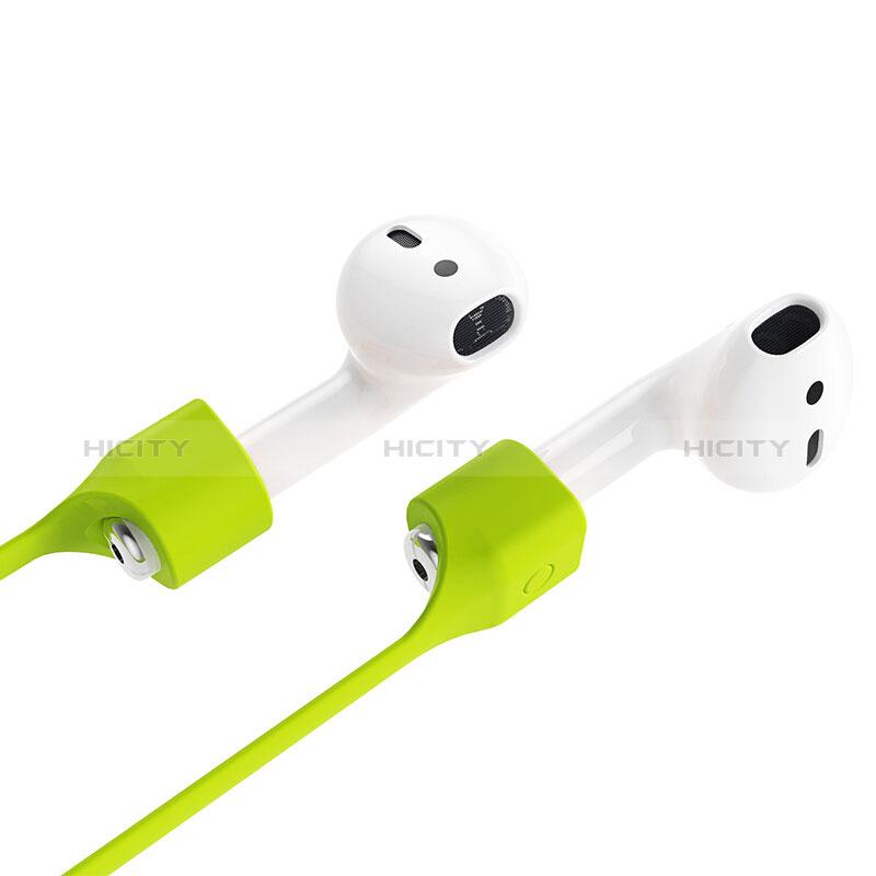 Cinturino Braccialetto Sportivo Silicone Cavo Anti-perso per Apple AirPods Verde